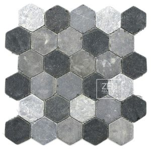 Zen Paradise Hexagon Tile - Mountain Mix