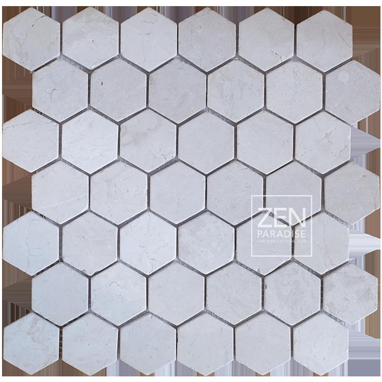 Zen Paradise Home Page Feature White Hexagon tile
