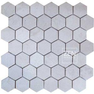 Zen Paradise Hex - White Marble tile