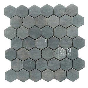 Zen Paradise Hex - Dark Grey Marble tile