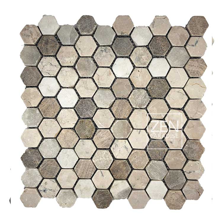 Zen Paradise Mini Hex - Beach Mix tile