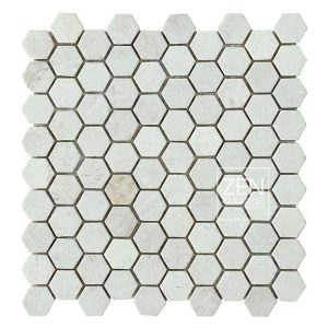 Zen Paradise Mini Hex - White Marble tile