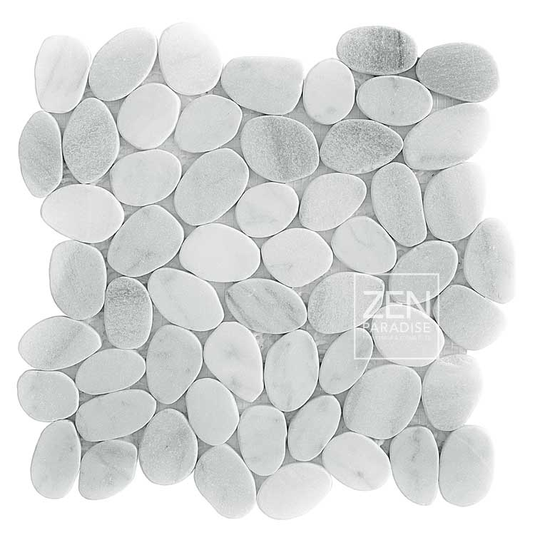 Zen Paradise Wave - Carrara Marble tile