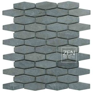 Zen Paradise Honeycomb - Dark Grey Marble tile