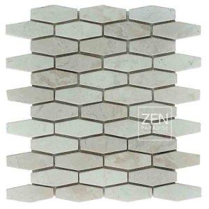 Zen Paradise Honeycomb - White Marble tile