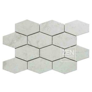 Zen Paradise XL Honeycomb -White Marble tile