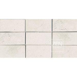 Zen Paradise 3x6 Subway Tile White Marble Tile