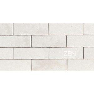 Zen Paradise 2x6 subway tile white marble