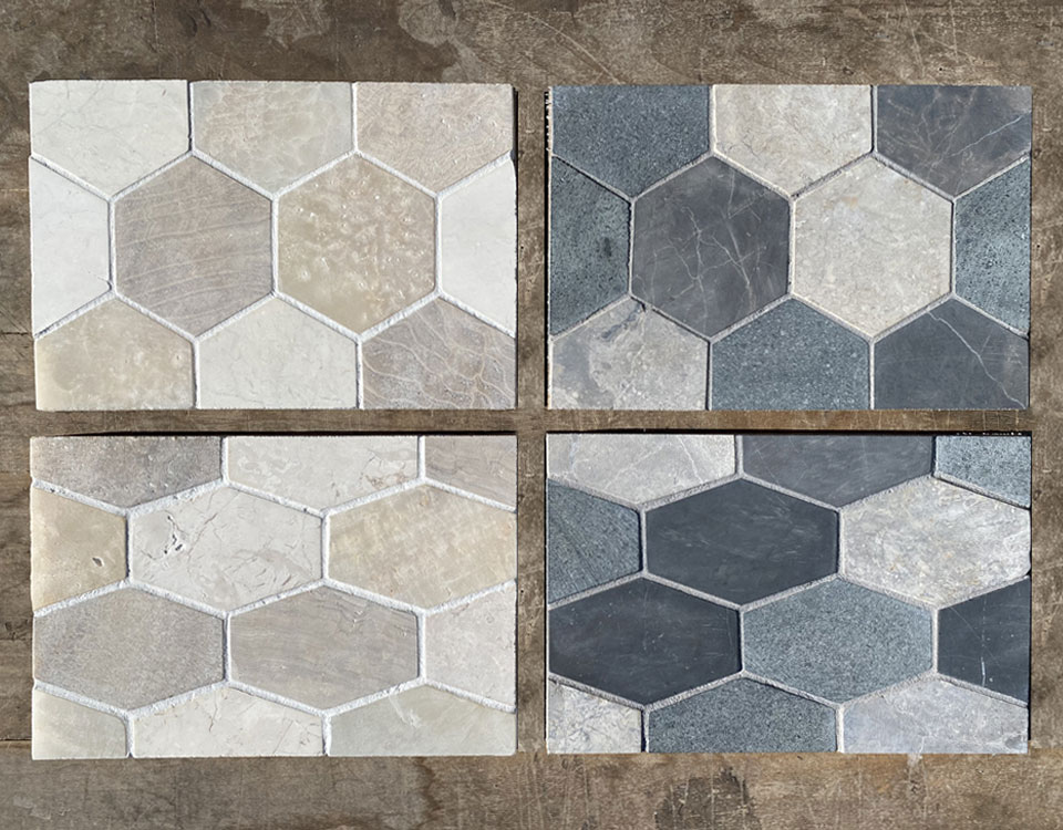 Zen Paradise Grouted Hexagon and Honeycomb