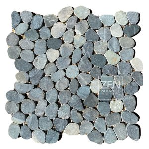 Zen Paradise Mini Wave Ocean Blue Tile