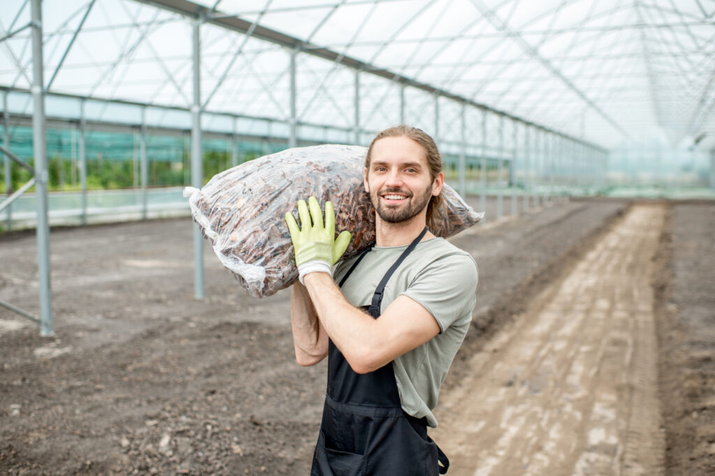 Commercial composting provides a means to creating an end product used for sale