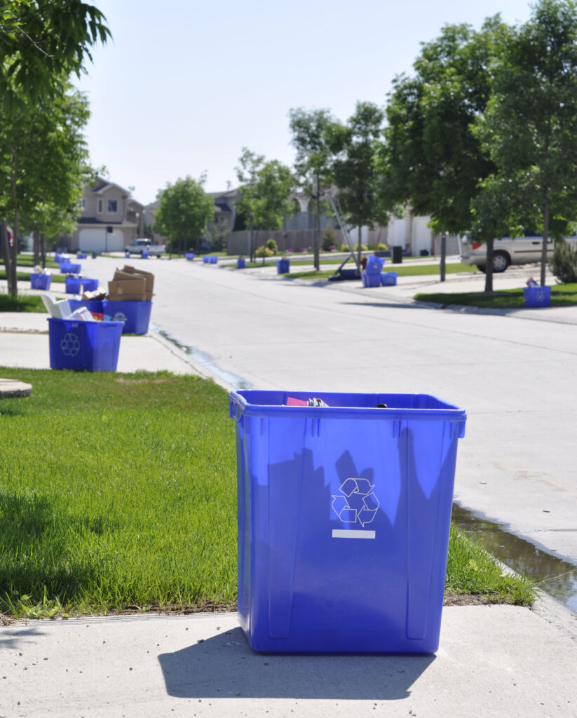 Curbside recycling vs recycling centers