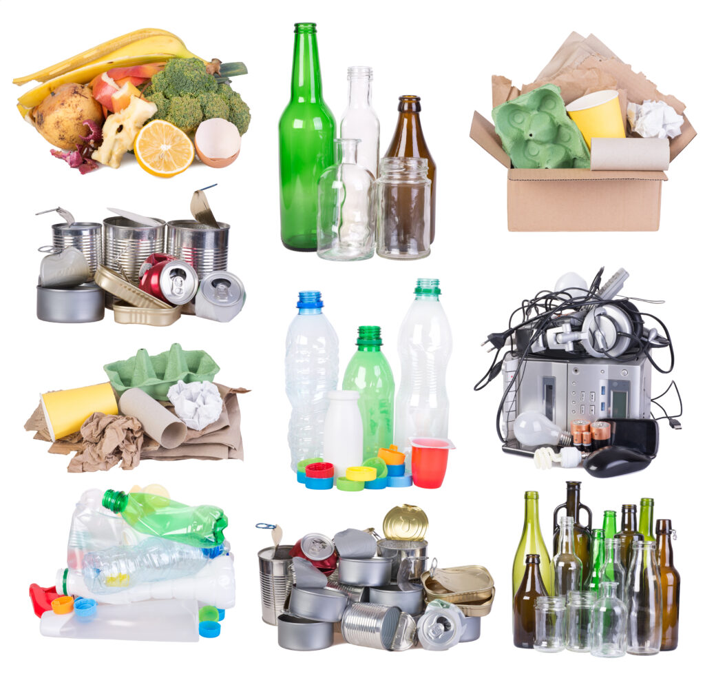 What materials are able to be recycled