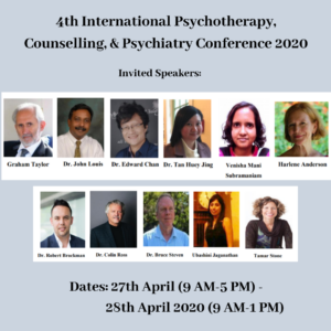 4th International Psychotherapy, Counselling, & Psychiatry Conference 2020