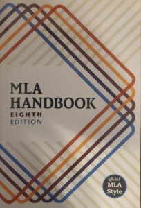 Paperback MLA Handbook, the eighth edition (the link opens in a new tab)
