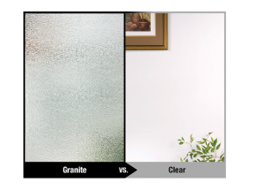 Obscured Glass VS Clear Glass