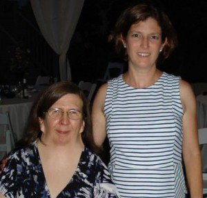 Me and Cynthia this past June. Another great excuse for a trip together, our friend Janet's wedding!
