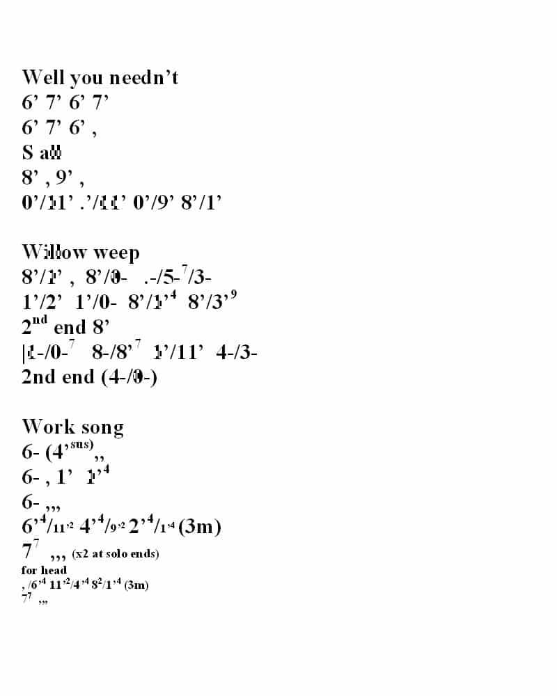 chord chart 5
