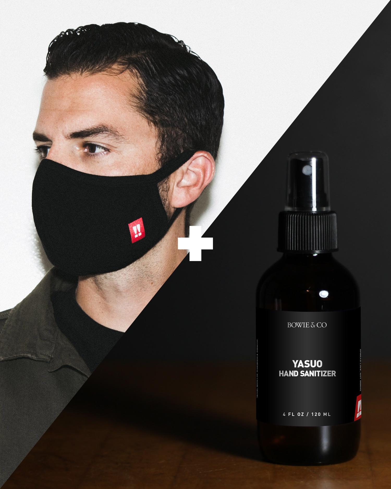 Face Mask + Hand Sanitizer Pack