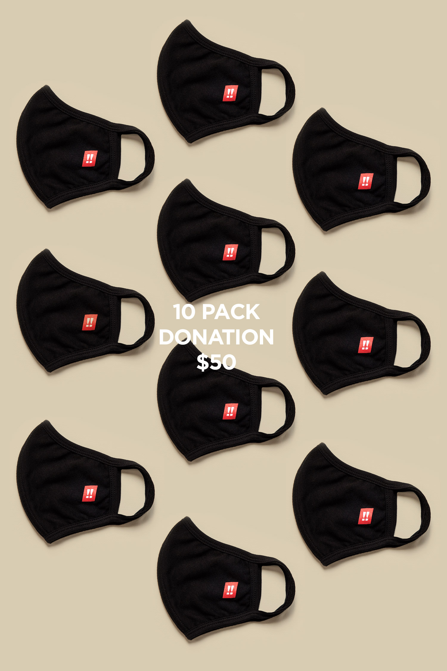 Face Mask: 10 pack (donation)