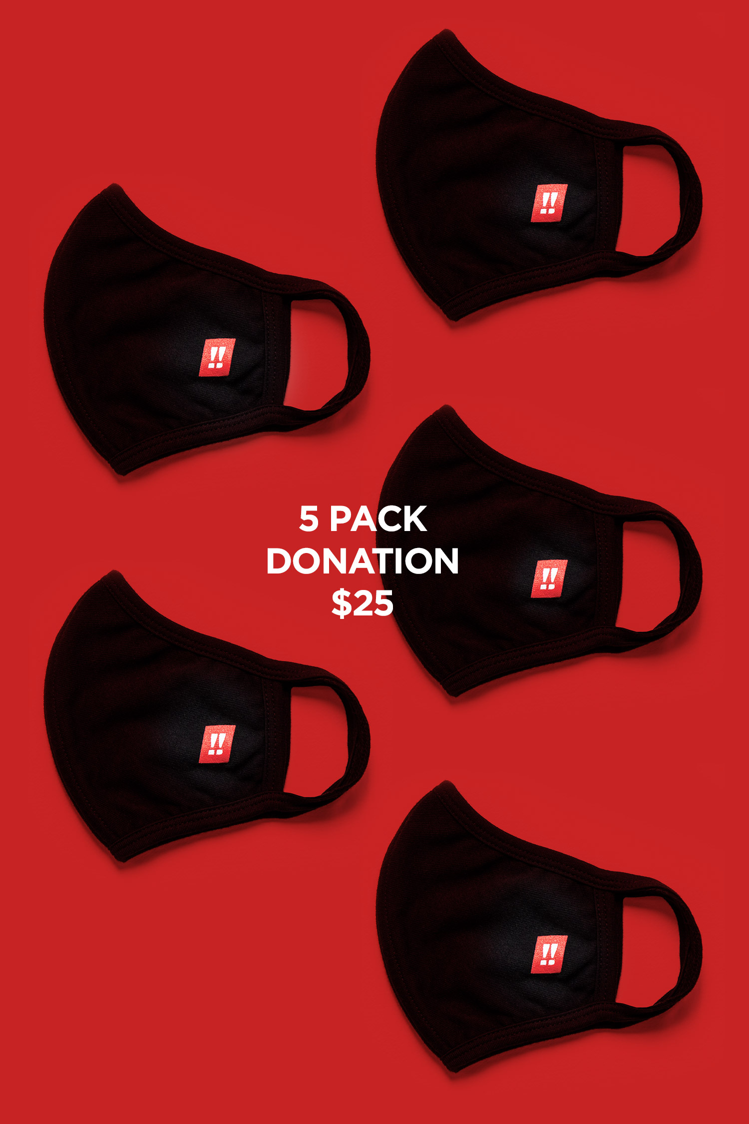 Face Mask: 5 pack (donation)
