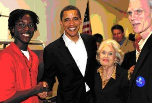 TCCI Student Tarre Johnson-Mack with then Presidential candidate Barack Obama. TCCI provides at-risk youth with resources and opportunities that shape positive, lifelong influences.