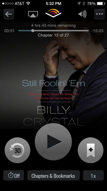 Screenshot from my iPhone – as shown on Audible.com app