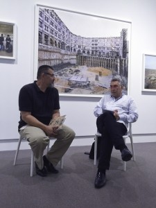 Frédéric Brenner (right) discussing This Place at the Norton Museum                              Photo: LH Baumel