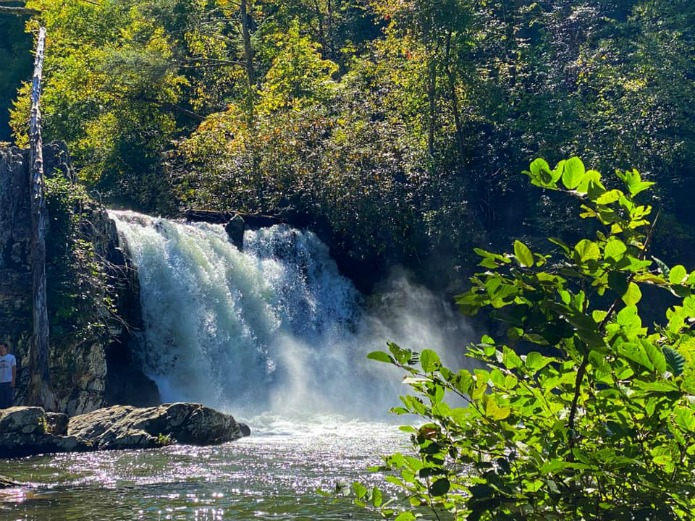 Abrams Falls in the Great Smoky Mountains NP on Travel with Terri