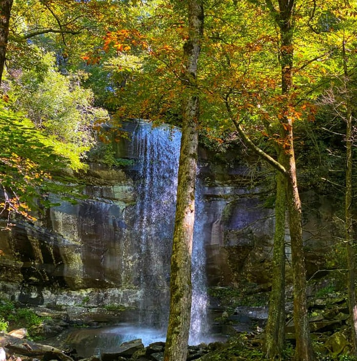 Rainbow Falls in the Great Smoky Mountains NP on Travel with Terri