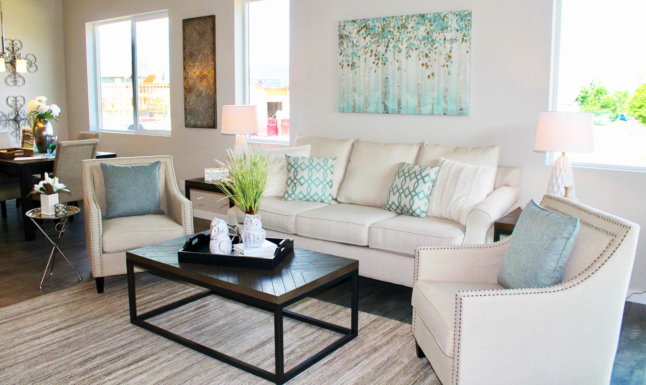 Encore Designs Family Room Green Blue Accents