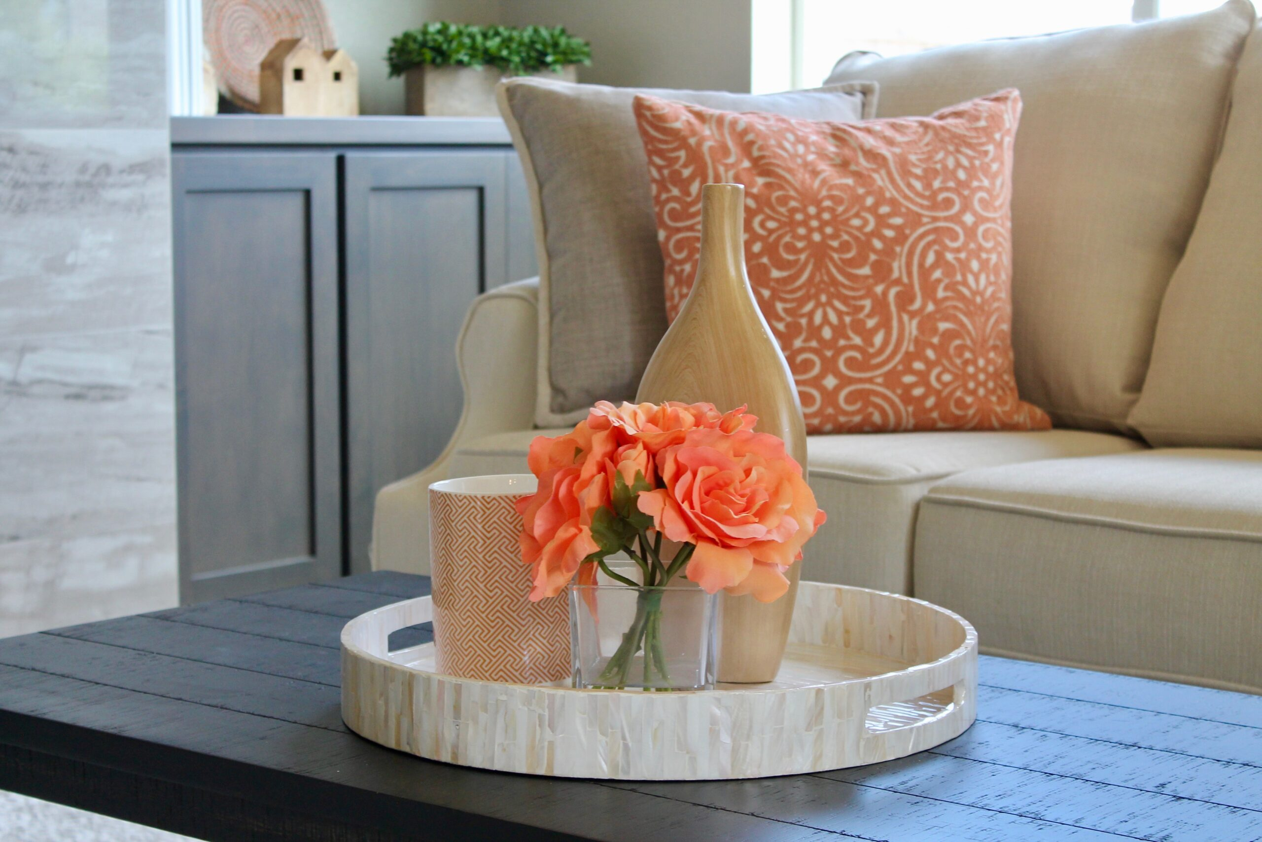 Model Home Staging Coffee Table Accents
