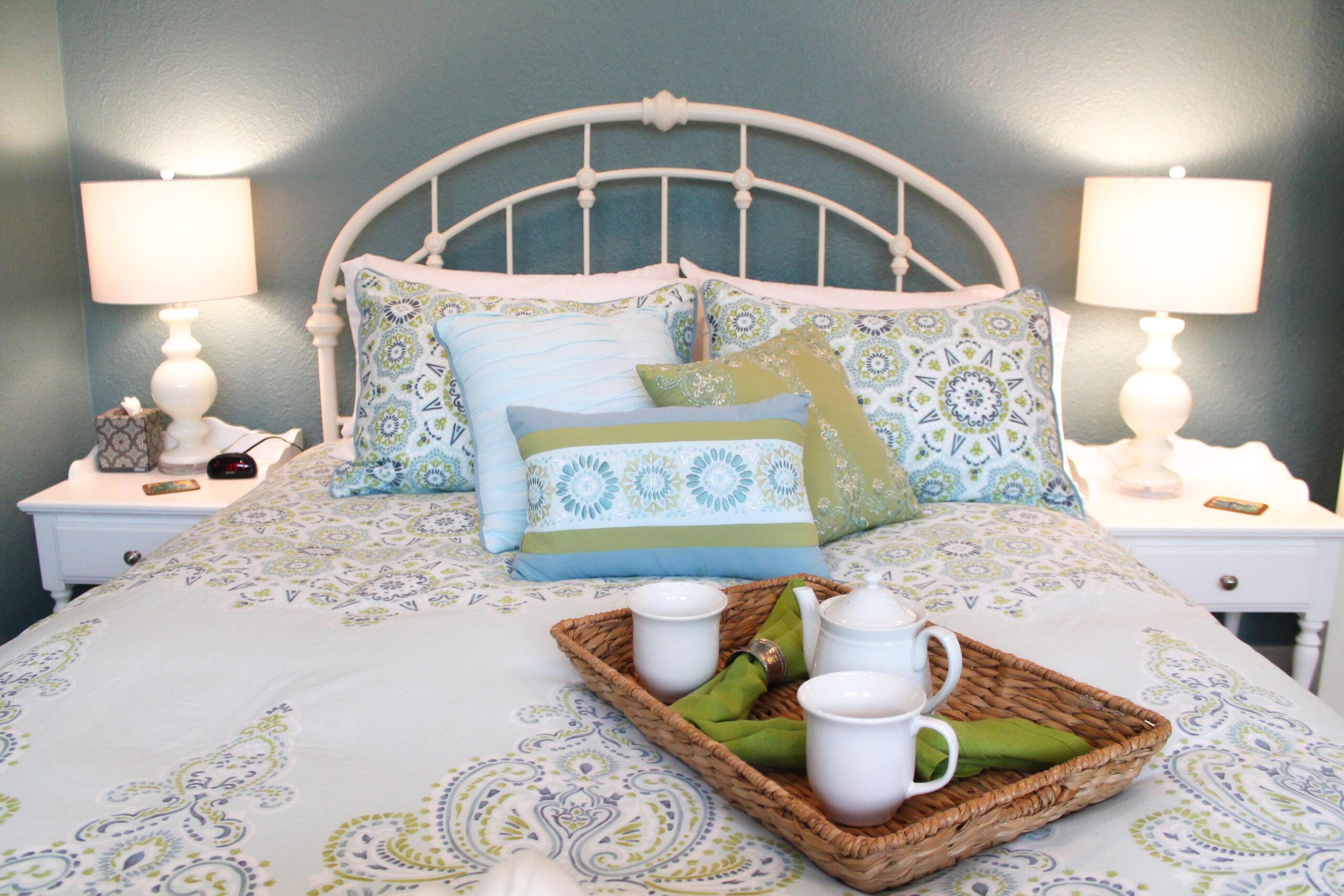 Vacation Rental Staging Bedroom