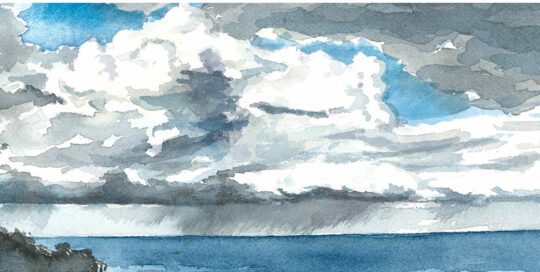 otford winter storm | 2015   watercolour on canson | size: 40 x 13cm