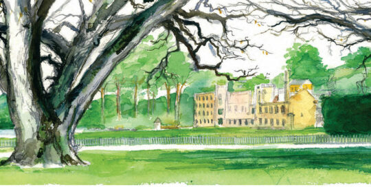 port arthur mid winter's afternoon | 2007 watercolour on canson | size: 40 x 13cm