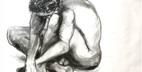 andrew   2002   47cm W x 76cm H   charcoal and pastel on cartridge paper