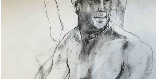 portrait in grey    2008   46cm W x 65cm H   charcoal on cartridge paper
