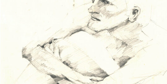 seated figure (detail)   2006    47cm W x 65cm H   pencil on cartridge paper