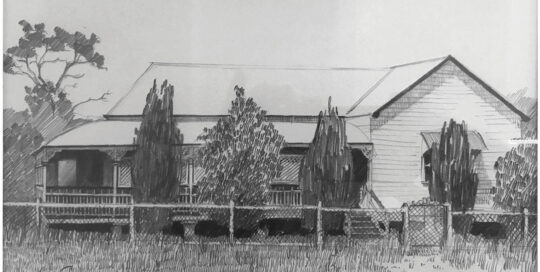 mama's childhood home  | 1978 |  35cm W x 25cm H | pencil on canson paper