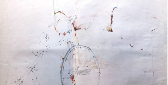 trike and chair | 1981 | 50cm W x 40cm H | pencil on cartridge paper