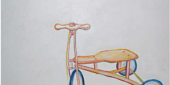 trike revisited | 2006 | 60cm W x 40cm H | colour pencil, acrylic and watercolour on canvas