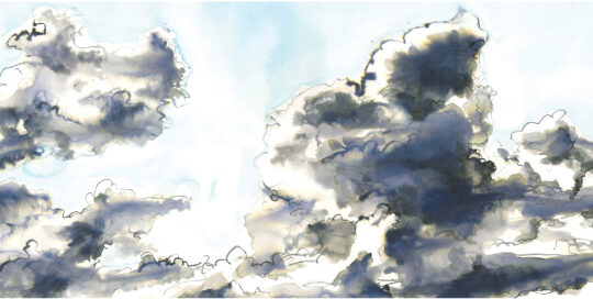 cloud experiment take 4 | drawing ink, arches paper