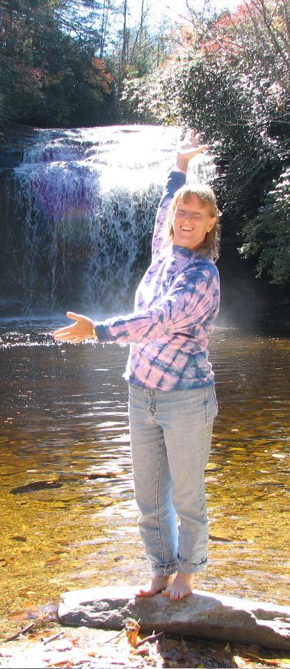 Carol Verner at Looking Glass Falls