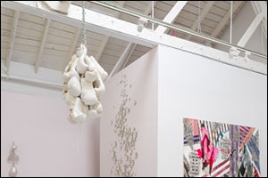 Zoe Buckman is a part of Gavlak's summer group show with a Let Her Rave Boxing Artwork