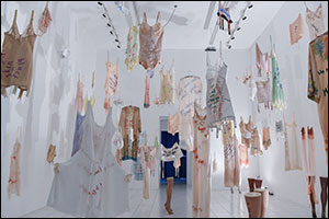 Papillion Art exhibition of Zoe Buckman's Every Curve series