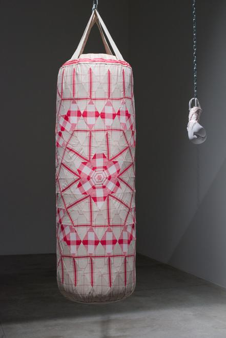 Zoe Buckman Feminist Art Punching Bag Boxing