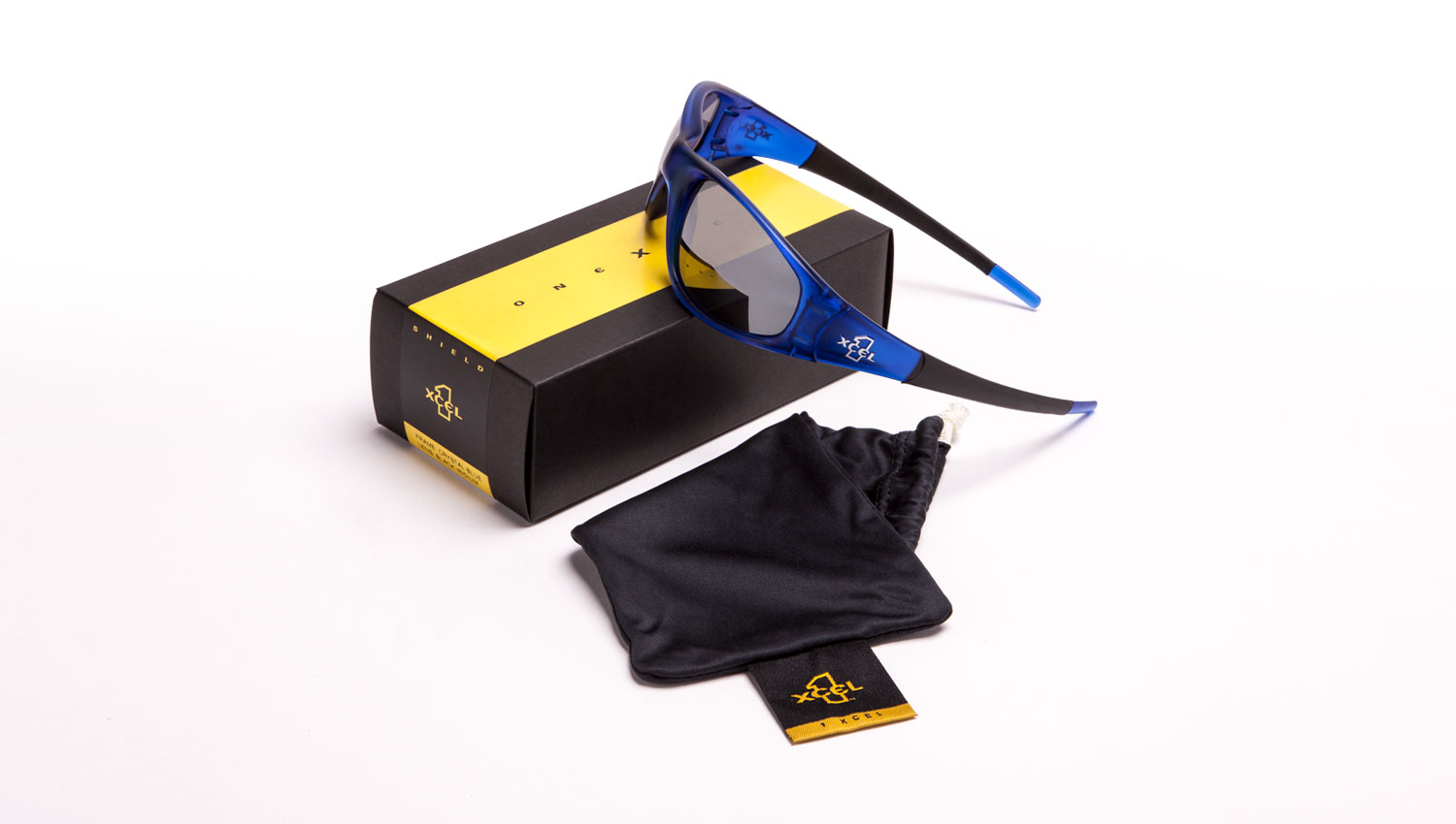 1XCEL sunglass packaging design