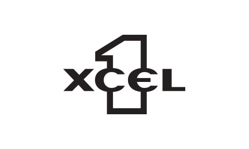 1XCEL sunglasses logo design