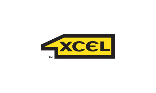 1XCEL horizontal football shield logo design