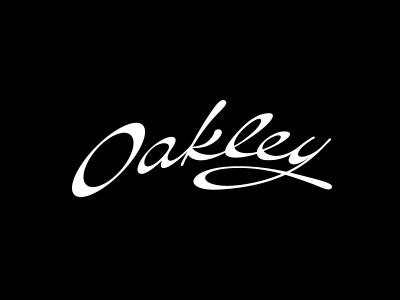 oakley women script logo design